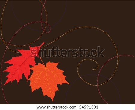 Vector background of colorful autumn leaves. - stock vector