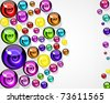 vector background of colorful decorative candy elements. - stock vector