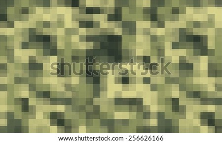Vector background of digital camoflage pattern - stock vector