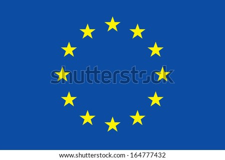 vector background of european flag - stock vector