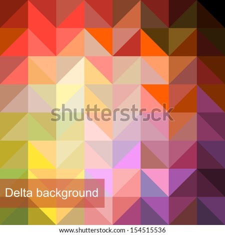 Vector background of geometric squares - stock vector