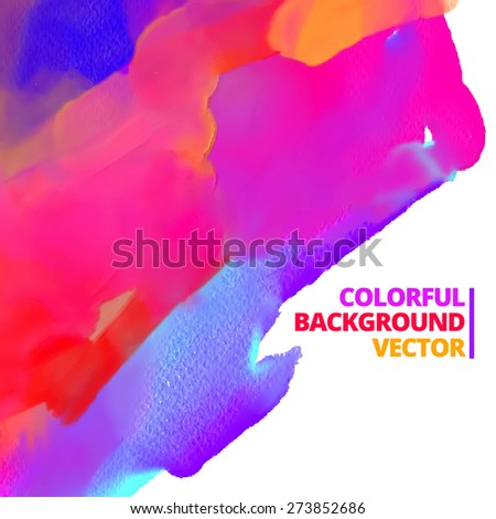 vector background of ink color paint design illustration - stock vector