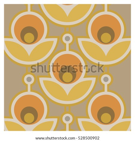 Vector background of seventies colorful wallpaper