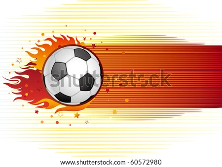 vector background of soccer - stock vector