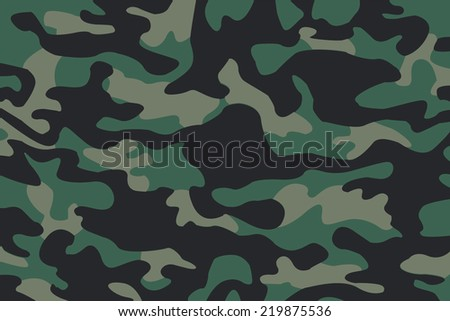 vector background of soldier green camo pattern - stock vector