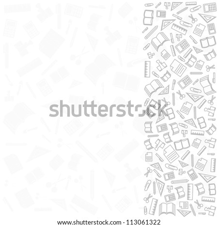 vector background of the icons the of education