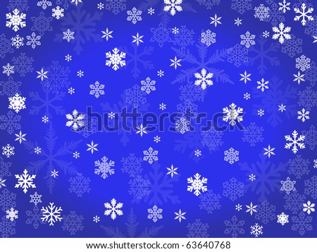 vector  background of transparent snowflakes - stock vector