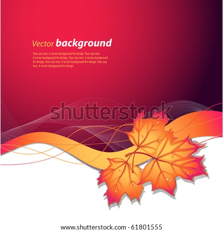 Vector background on a theme of autumn - stock vector