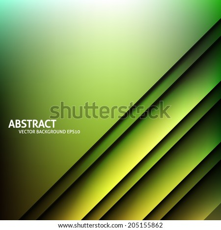 Vector background. Overlapping shapes. Graphic message board for text and message. Striped lines. Green color - stock vector