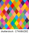 Vector background - pattern with rhomboids (seamless) - stock vector