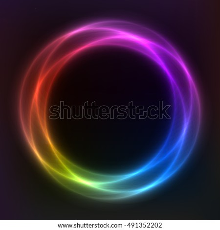vector background, round frame,
