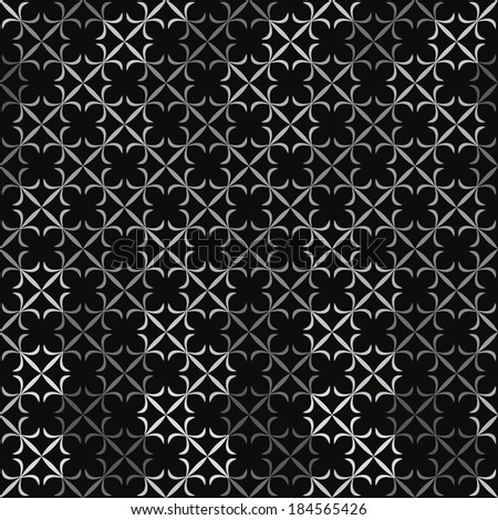 vector background,  seamless pattern with  black; white; gray elements, geometric design, vector illustration - stock vector