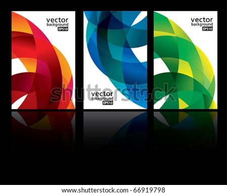 vector background set EPS10 - stock vector