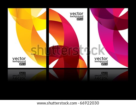 vector background set EPS10 - stock vector
