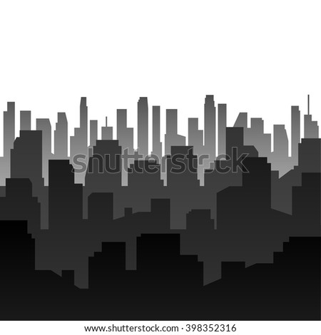 Vector background. Silhouette of the city. Eps 10. - stock vector