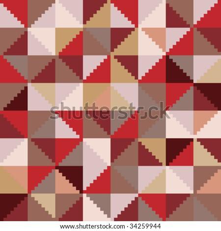 Vector background southwestern patchwork design - stock vector