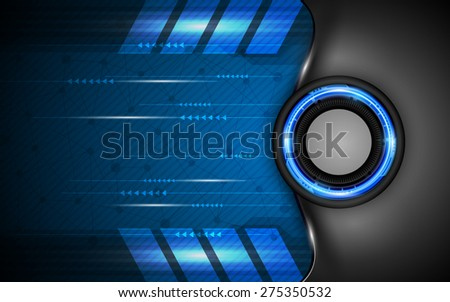vector background technology template - stock vector