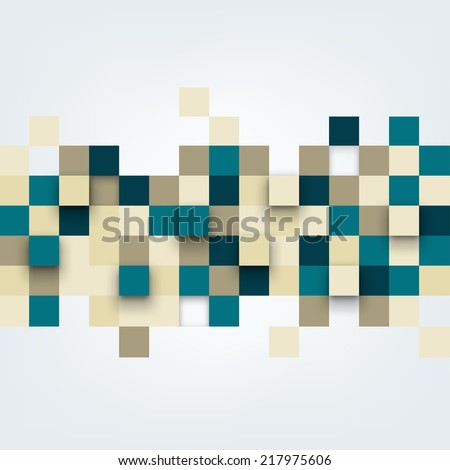 Vector background. Vector Illustration of abstract squares. Pattern design for banner, poster, flyer, cover, brochure.  - stock vector