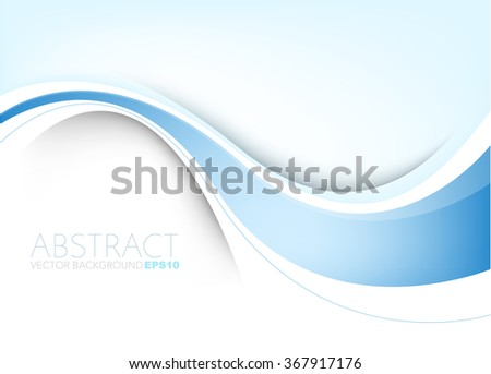 Vector background white curve line paper overlap layer with blue line and space for text and message artwork background design - stock vector