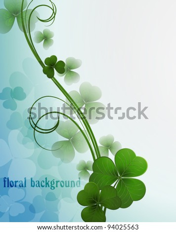 Vector background with a clover - stock vector
