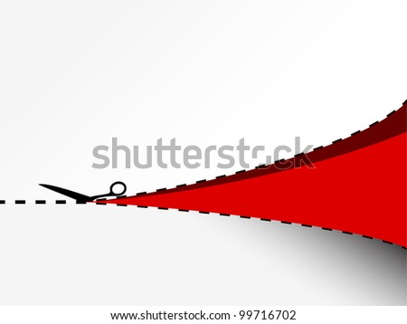 Vector background with a cut paper - stock vector
