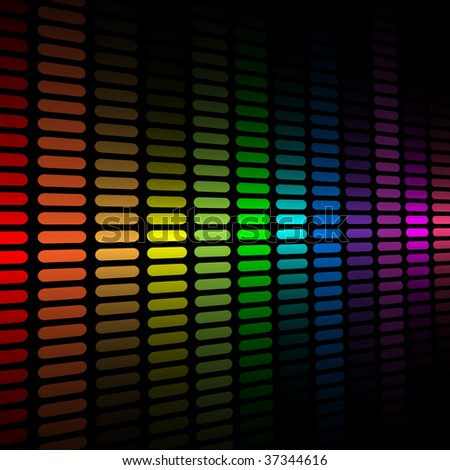Vector background with abstract color spectrum music graphic equalizer.