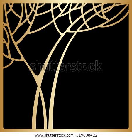 vector background art deco design space stock vector 2018 rh shutterstock com art deco tree of life art deco tree decorations