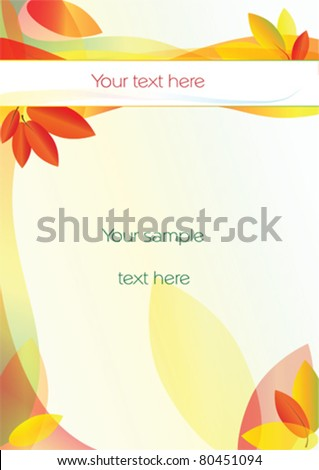 vector background with autumn leaves and a space for your text - stock vector