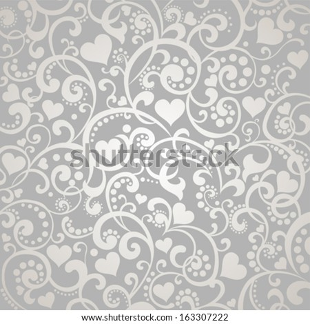 Vector background with  beautiful  hearts. - stock vector