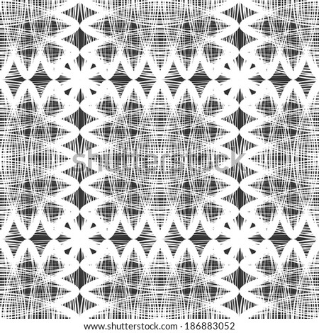 vector background with black and white elements, geometric design, vector illustration - stock vector