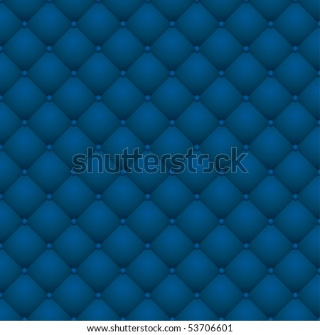 vector background with blue leather upholstery - stock vector