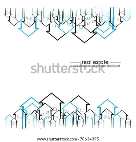 vector background with buildings - stock vector