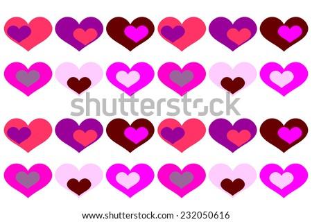 Watercolor Heart Clip Art Valentine Love Stock Illustration ...