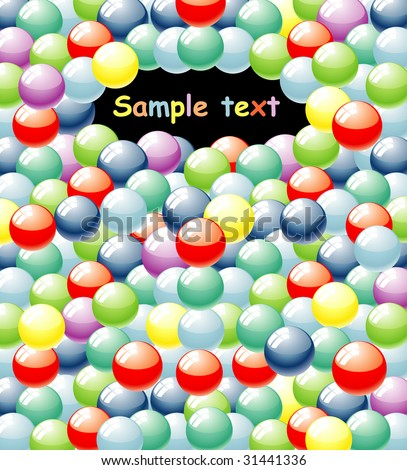 vector background with colorful balls - stock vector