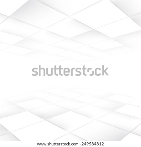 Vector Background with copy-space. White and grey abstract perspective background - stock vector