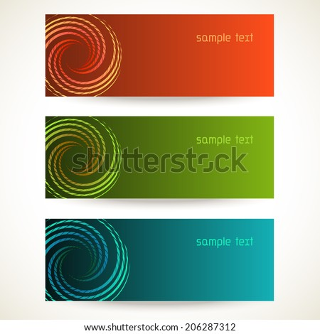 Vector background with design element. Set of color template with text box for visiting, business, calling card. Illustration with concept of movement for print, web - stock vector
