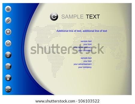 Vector background with dotted map of the world