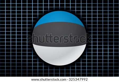 Vector background with flag of Estonia. - stock vector