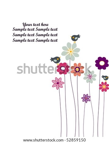 vector background with flowers.