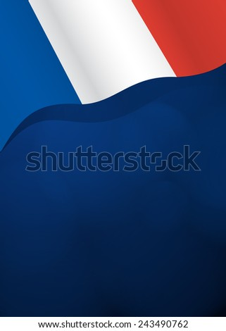 Vector background with France flag in vector - stock vector