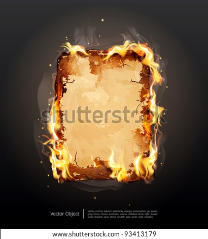 vector background with glowing ancient parchment - stock vector