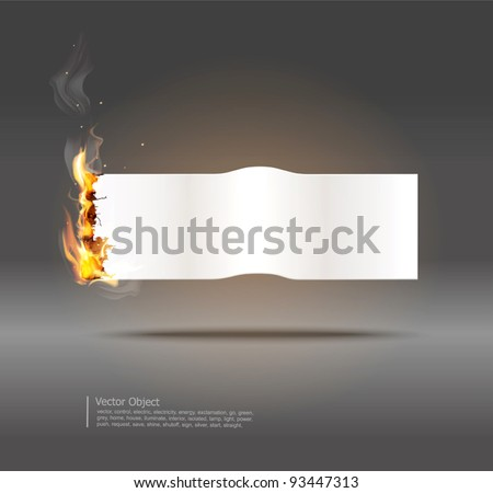 vector background with glowing paper banner