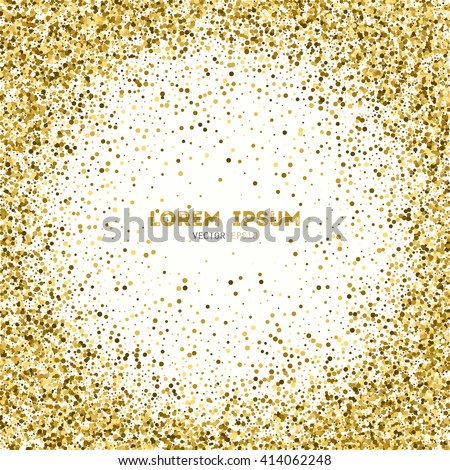 Vector background gold glitter gold sparkle stock vector 414062248 vector background with gold glitter gold sparkle vector template for your text template for stopboris Images
