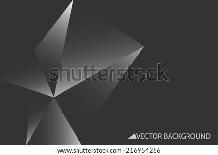 Vector background with grey triangles, triangle design, geometrical pattern with polygons - stock vector