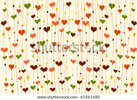 vector background with hearts. - stock vector