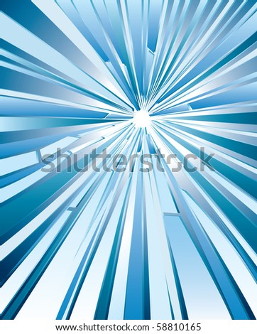 vector background with hole in broken glass - stock vector