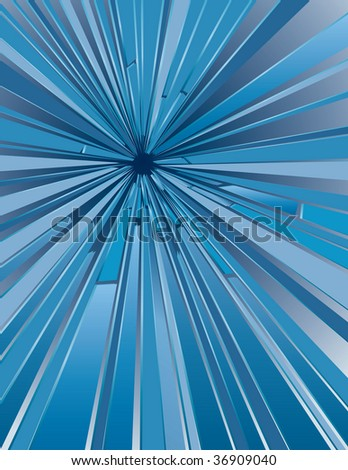 vector background with hole in glass - stock vector
