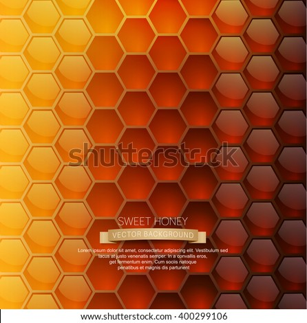 vector background with honeycombs - stock vector