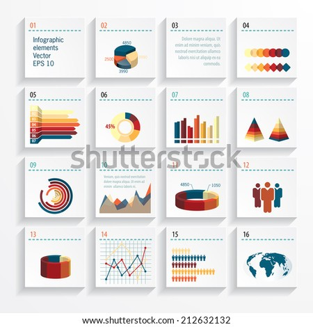 Vector background with infographic elements. - stock vector