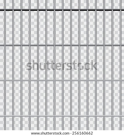 vector background with jail bars - stock vector